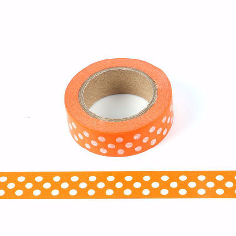 Orange dot washi tape letterseals.com