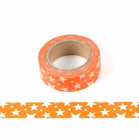 Orange Star Washi Tape LetterSeals.com