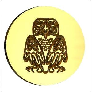 Owl, Haida Wax Seal Stamp