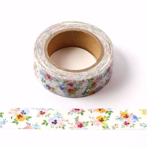 Pansy Flower Washi Tape LetterSeals.com