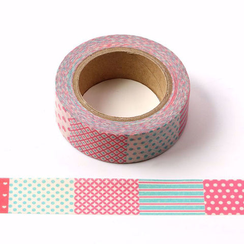 patchwork washi tape letterseals.com