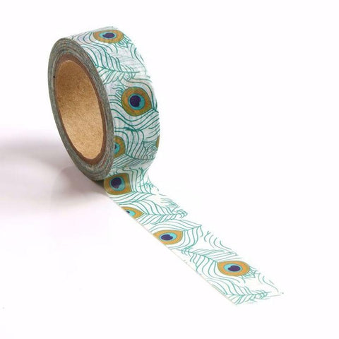 Peacock feather washi tape letterseals.com