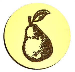 Pear Fruit Wax Seal Stamp LetterSeals.com