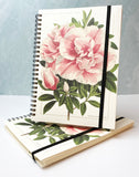 Peony Spiral Wire Bound Notebook - Rossi 1931