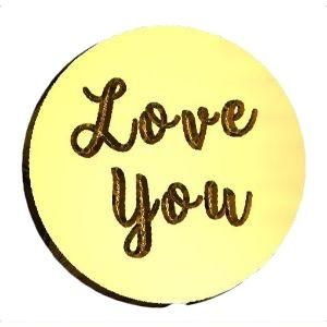 Love You Script Wax Seal Stamp LetterSeals.com