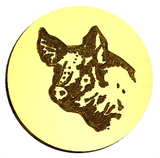 Pig Bust Wax Seal Stamp