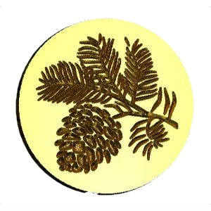 Pine Bough, Pinecone Wax Seal Stamp