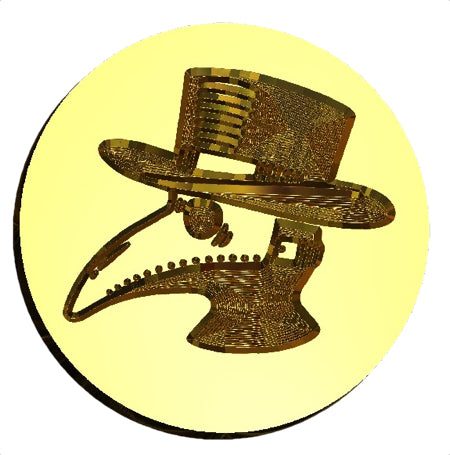 Plague Mask  - Plague Doctor Wax Seal Stamp LetterSeals.com