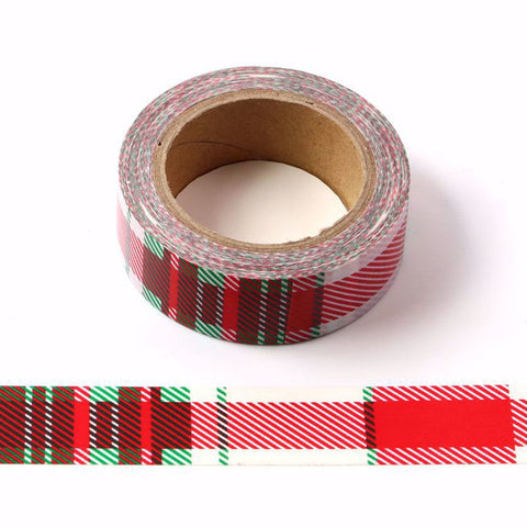 Red Plaid Washi Tape Letterseals.com