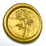 Rose 2 Wax Seal Stamp LetterSeals.com