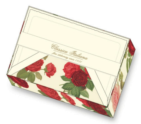 Roses Note Cards | Rossi 1931 Italian Stationery