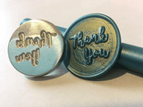 thank you wax seal stamp blue gold sealing wax wax seal stamp letterseals.com