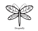 Dragonfly wax seal stamp, sealing wax stamp, letterseals.com