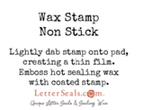 wax seal stamp non stick letterseals.com