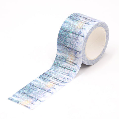 Winter Forest Glitter Washi Tape Letterseals.com