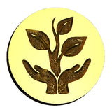 Sprout Earthday wax seal stamp letterseals.com