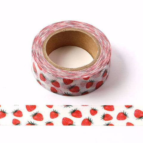 Strawberry washi tape letterseals.com