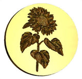Sunflower wax seal stamp letterseals.com