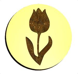 Tulip 3 Wax Seal Stamp Letterseals.com