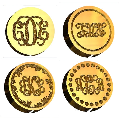 Vine intertwined monogram wax seal stamp letterseals.com