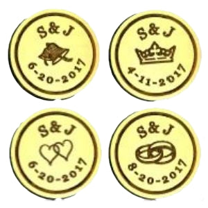 dated monogram wax seal stamp letterseals.com