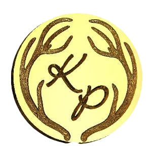 large antler monogram wax seal stamp letterseals.com