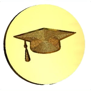 Mortarboard Wax Seal Stamp
