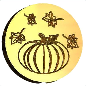 Pumpkin + Leaves Wax Seal Stamp LetterSeals.com