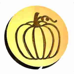 pumpkin wax seal stamp letterseals.com