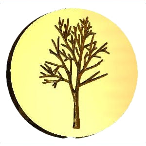 Bare Tree #2 Design Wax Seal Stamp LetterSeals.com