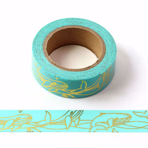 Whale Gold Foil Washi Tape Letterseals.cmo