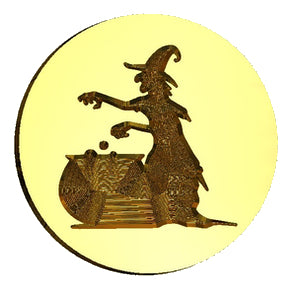 Witch & Cauldron Wax Seal Stamp