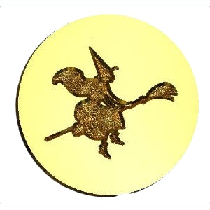 Witch on Broom Wax Seal Stamp