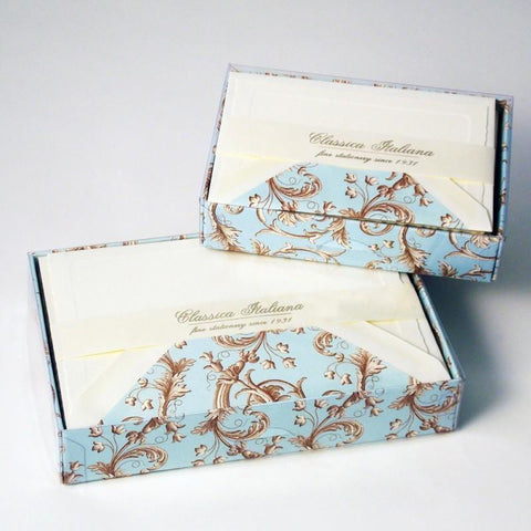 Small & Large Florentine Note Cards | 9 Patterns | Rossi 1931 Italian Stationery-LetterSeals.com