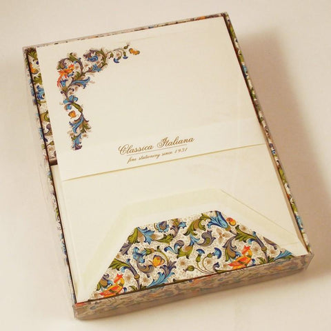 Florentine Bird Patterned Stationery | Rossi 1931 | Italian Handmade LetterPress | LetterSeals.com