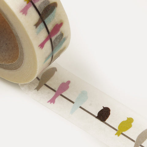 Birds on wire washi tape letterseals.com