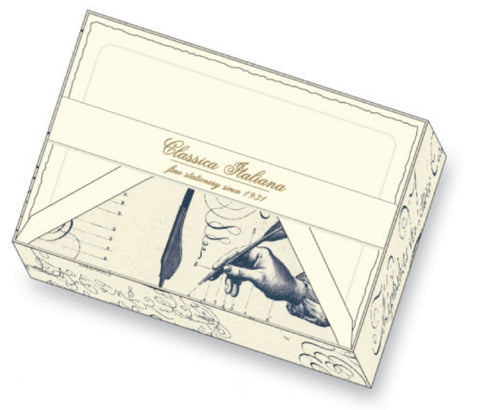 Calligraphy Exercises Note Cards | Rossi 1931 Italian Stationery
