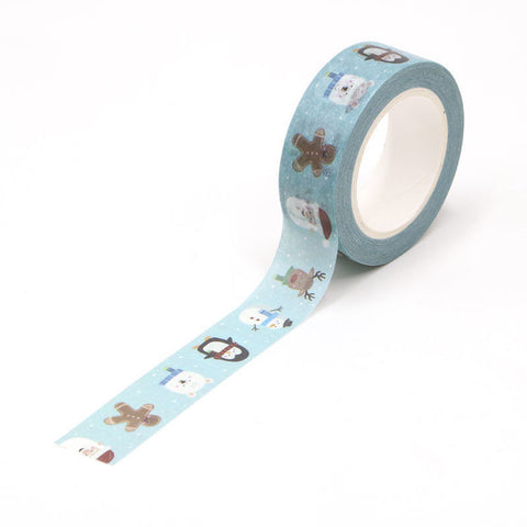 Happy Christmas Faces Washi Tape
