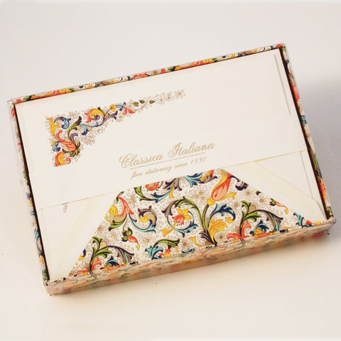 Classic Florentine Note Cards | Rossi 1931 Italian Stationery