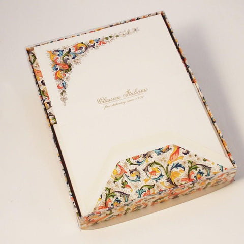 Classic Florentine Pattern Stationery | Rossi 1931 Italian Stationery-LetterSeals.com
