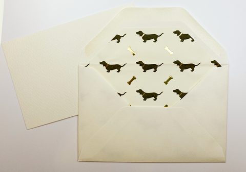 Dog + Bone Note Cards | Rossi 1931 Italian Stationery | LetterSeals.com