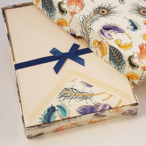 Feather Pattern Writign Papers | Rossi 1931 Italian Stationery-LetterSeals.com
