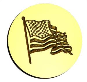 Waving US Flag wax seal stamp letterseals.com