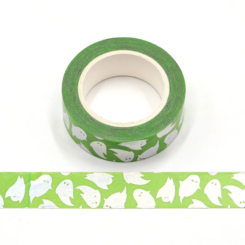 Green Foil Ghost Washi Tape