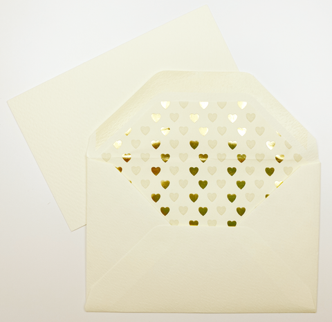 Heart Note Cards | Rossi 1931 Italian Stationery | LetterSeals.com