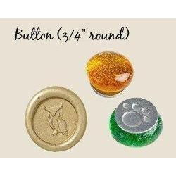 "Button Sized 3/4"" Designs Glass Handle Wax Seal Stamps-LetterSeals.com"