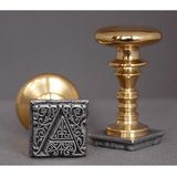 "French | Aladine 1"" Square Initial Wax Seal Stamp-LetterSeals.com"
