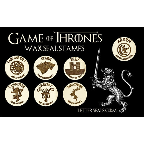 Game of Thrones Design Wax Seal Stamps-LetterSeals.com