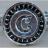 Italian Crafted Silver Bold Initial Wax Seal Stamps-LetterSeals.com