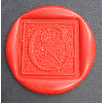 Nordic Ornamental Font Initial Wax Seal Stamp - Select Size, Handle & Trim